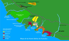 Huatulco Mexico Map